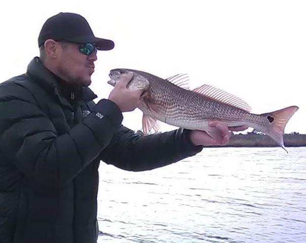 kissing a redfish